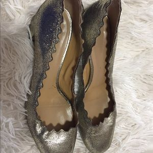Chloè Lauren Metallic Scalloped pumps 7